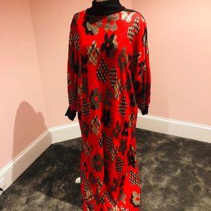 WOW vintage knit Nieman Marcus maxi dress